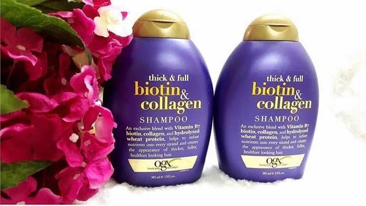 Dầu gội Biotin & Collagen Shampoo của Mỹ trị rụng tóc