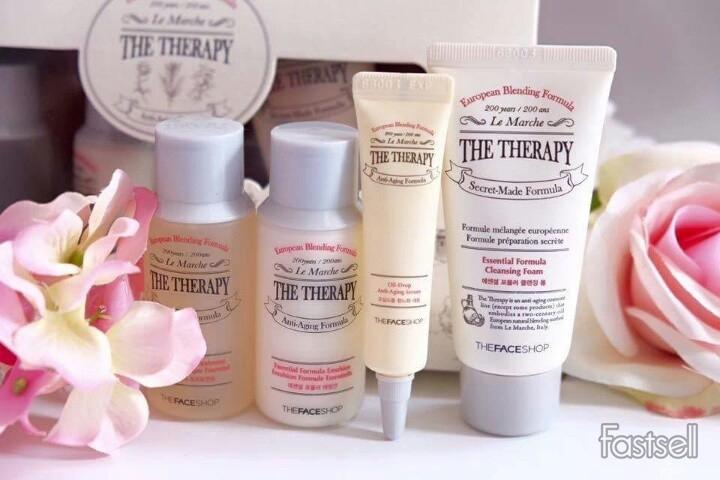 Set dưỡng da chống lão hóa Mini The Therapy The Face Shop