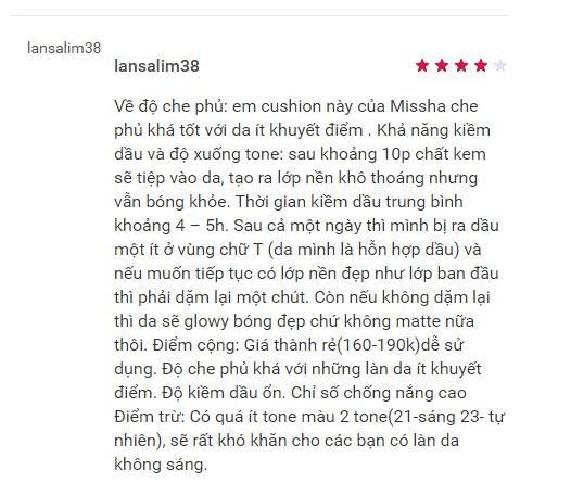 Phấn Nước Missha M Magic Cushion SPF50+/PA+++ 15g