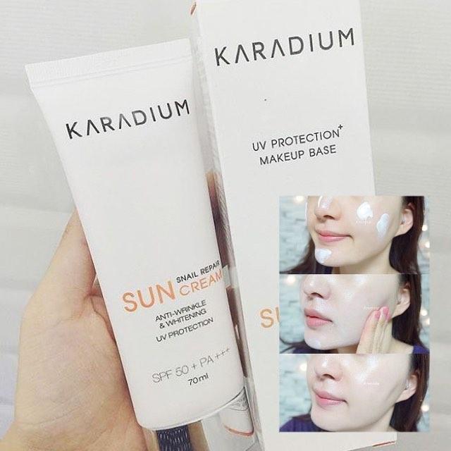 Kem chống nắng trắng da Karadium bảo vệ làn da có thật như lời đồn