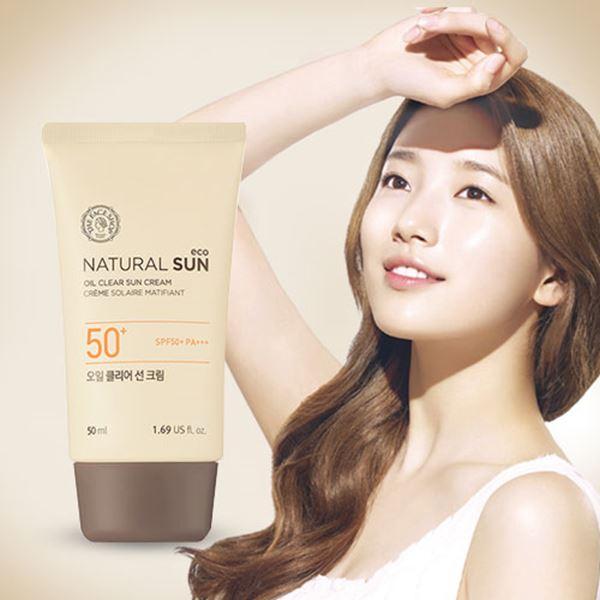 Kem chống nắng cho da dầu Nature Sun Eco The Face Shop Hàn Quốc