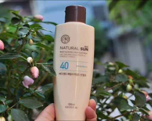Kem chống nắng dưỡng thể body Nature Sun Eco The Face Shop