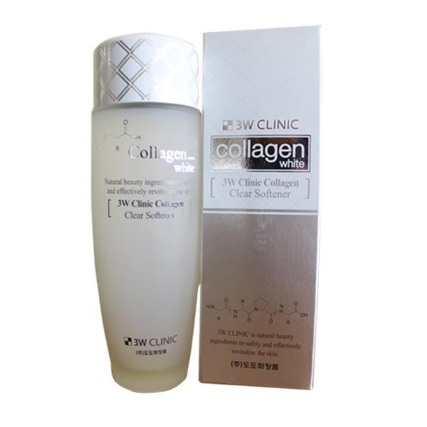 Nước hoa hồng làm sạch da 3W Clinic Collagen White 150ml