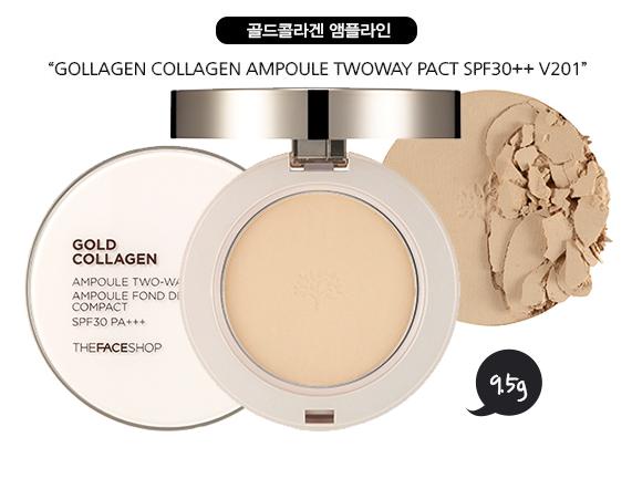 Phấn nén Gold collagen siêu mịn TFS nức lòng phái đẹp