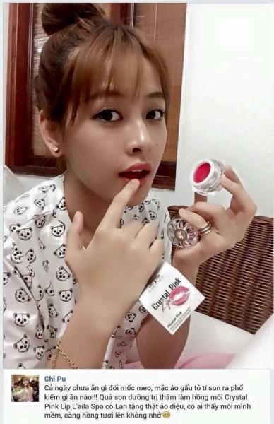 son dưỡng trị thâm môi laila spa crustal pink lip