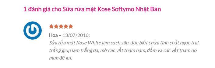 Sữa rửa mặt Kose Softymo White