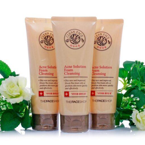 Sữa rửa mặt trị mụn Clean Face Acne Solution Foam Cleanser