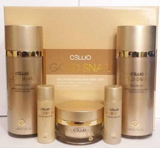 Bộ dưỡng da tinh chất ốc sên Gold Snail – CELLIO