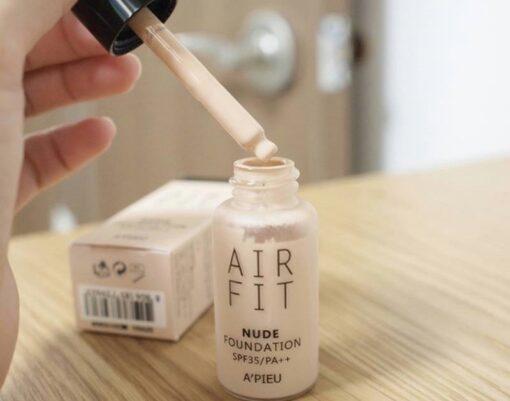 Kem nền Apieu Air Fit Nude Foundation