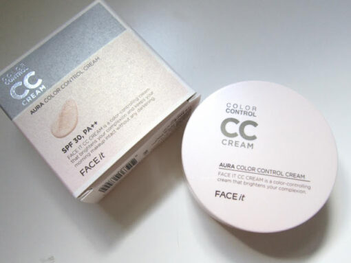 Kem nền CC cream Aura Color Control của The Face Shop