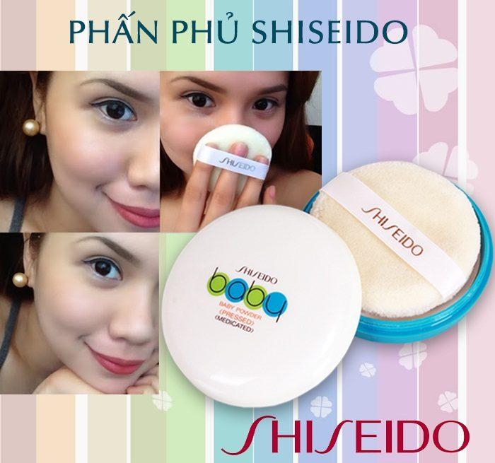 Phấn không chì kiềm dầu Baby Shiseido Nhật Bản