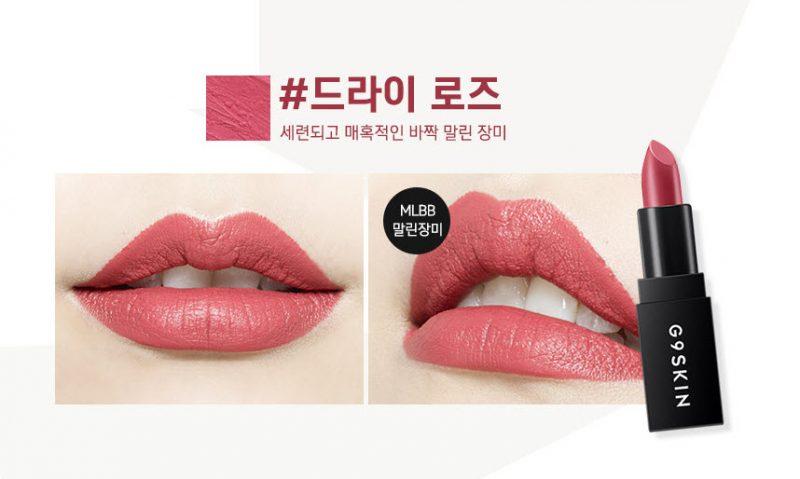 Cực sang chảnh với son môi G9 Skin Matte đang hot hiện nay