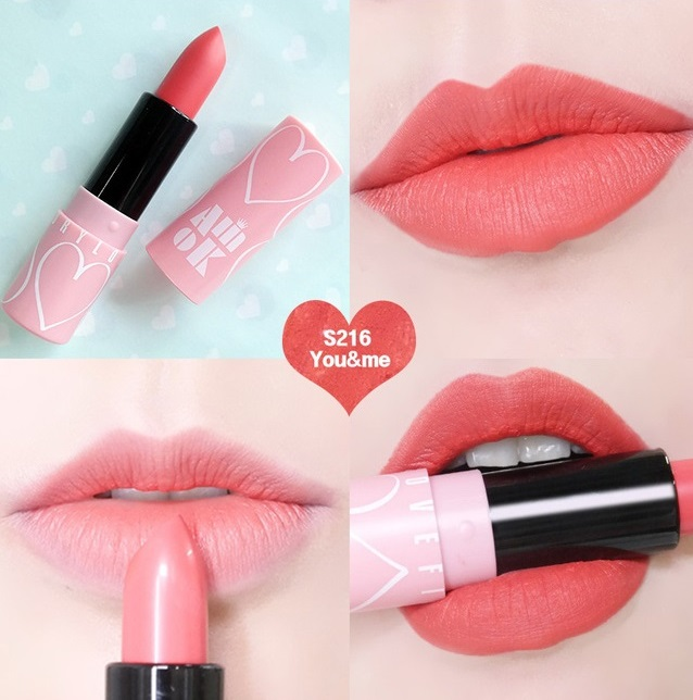 Son thỏi Amok Luxury Lovefit vỏ hồng quyến rũ