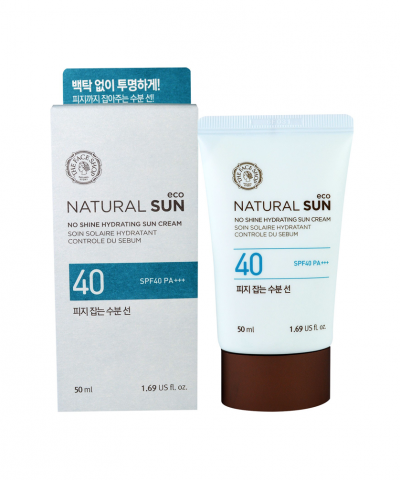 Kem chống nắng kiềm dầu Natural Sun Eco No Shine Hydrating The Face Shop