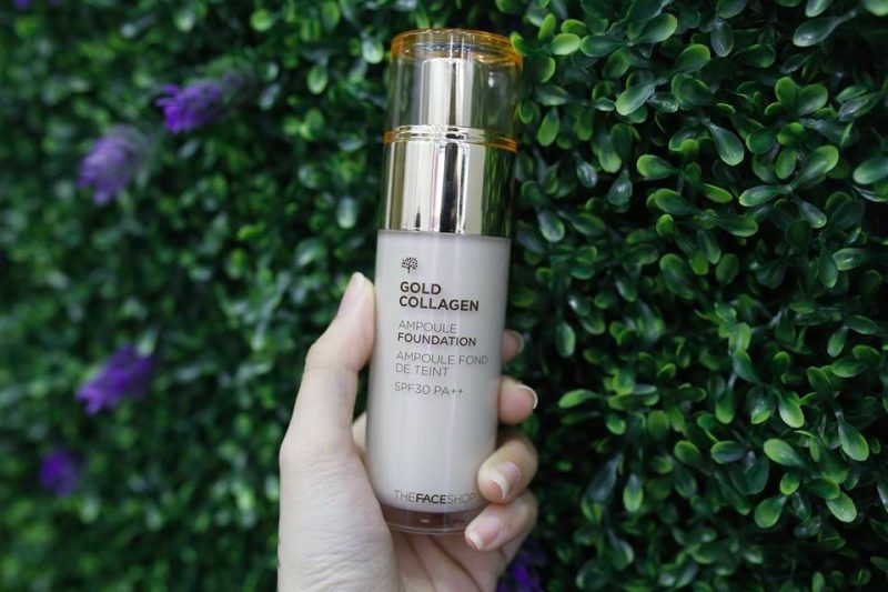 Kem Nền THE FACE SHOP Gold Collagen Ampoule Foundation spf30 pa ++