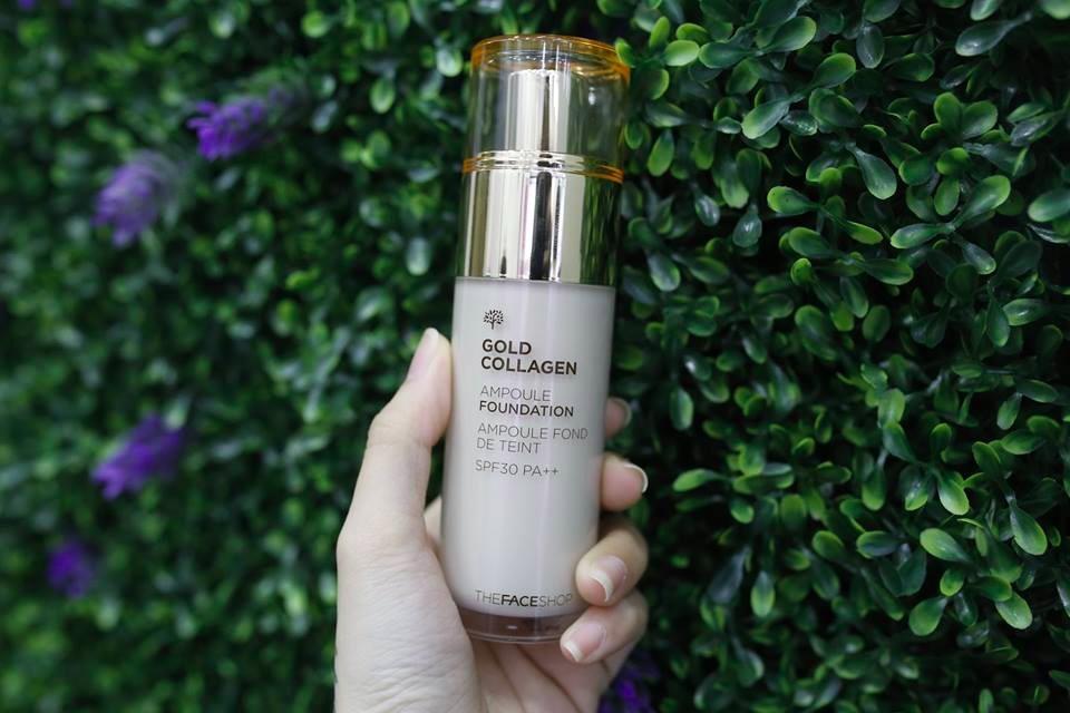 the face shop gold collagen ampoule base