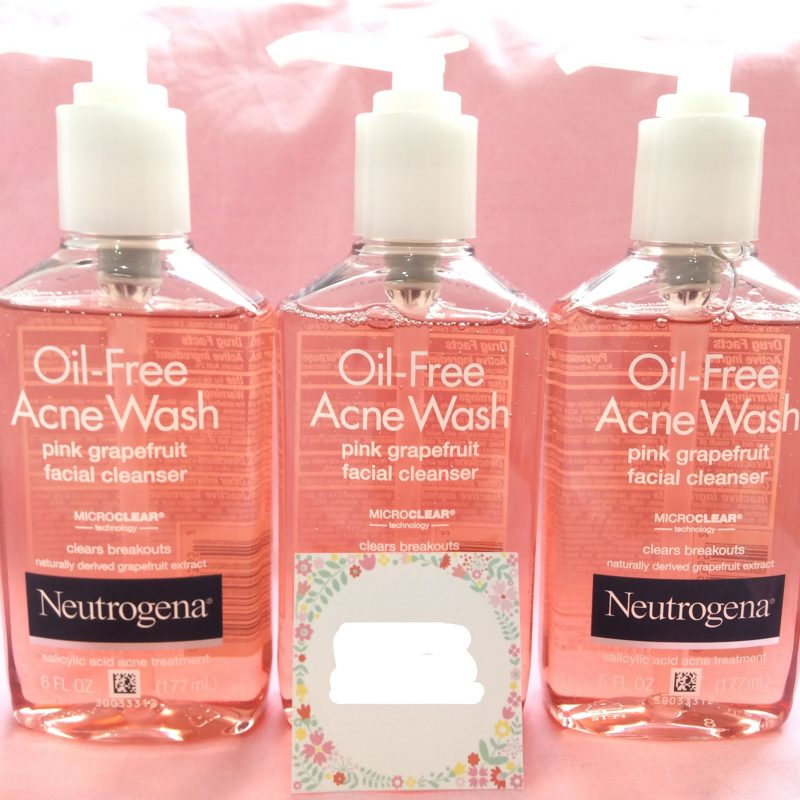sữa rửa mặt neutrogena oil free acne wash pink grapefruit facial cleanser