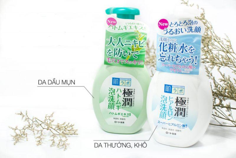 Sữa rửa mặt tạo bọt Hada Labo Gokujyun Hatomugi Foaming Cleanser
