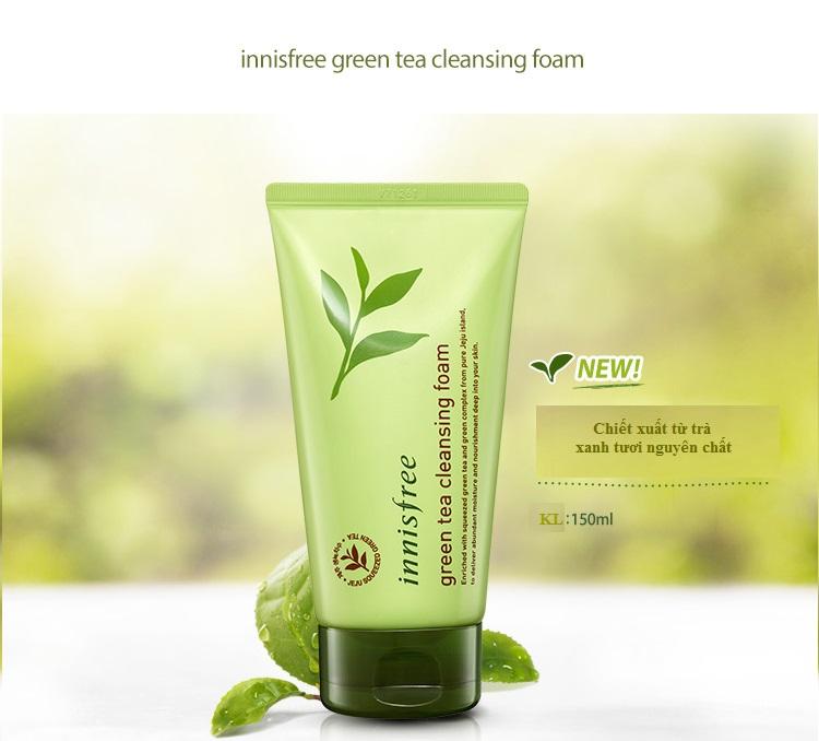Sữa Rửa Mặt Innisfree Trà Xanh Green Tea Cleansing Foam