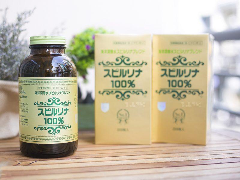 Viên uống tảo soắn Spirulina 2200 viên Nhật Bản