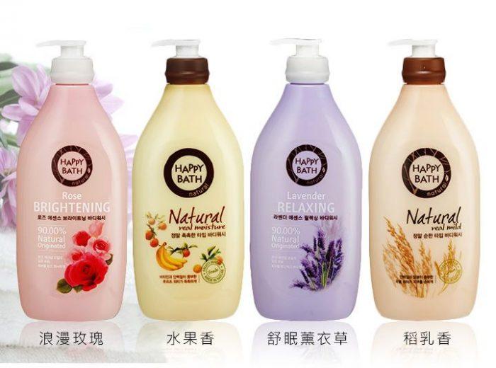 Sữa tắm cao cấp Happy Bath Lavender, Natural, Rose Essence 900ml