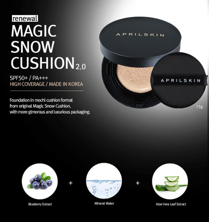 Phấn nước April Skin Magic Snow Cushion phiên bản mới