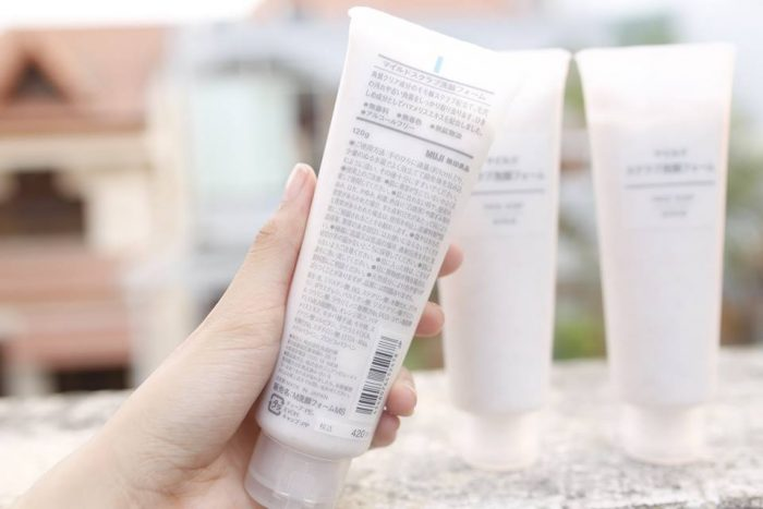 sữa rửa mặt muji face soap moisture
