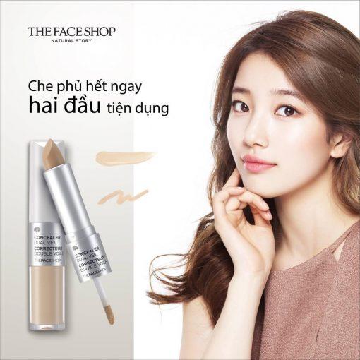 Kem che khuyết điểm 2 đầu The Faceshop Concealer Dual Veil