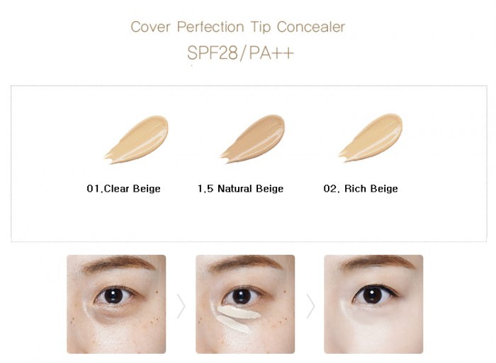 KKem Che Khuyết Điểm The Saem Cover Perfection Tip Concealer