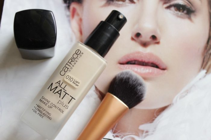 kem nền catrice all matt plus shine control make up 18h