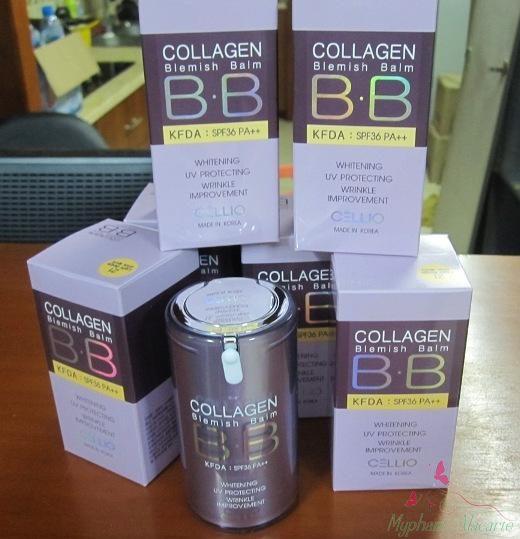 Kem nền Cellio Collagen Blemish Balm B.B SPF 40 PA+++