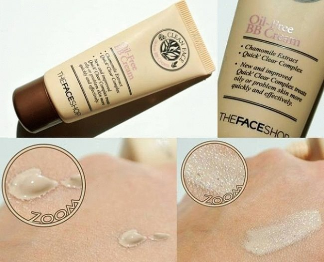 Kem nền The Face Shop Clean Face oil control bb cream 35ml