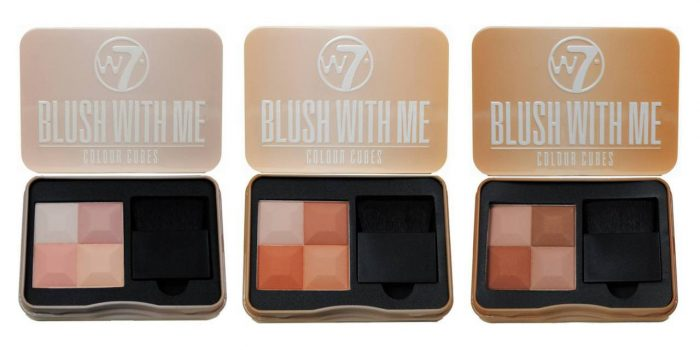 Phấn Má Hồng W7 Blush With Me Colour Cubes 8,5g