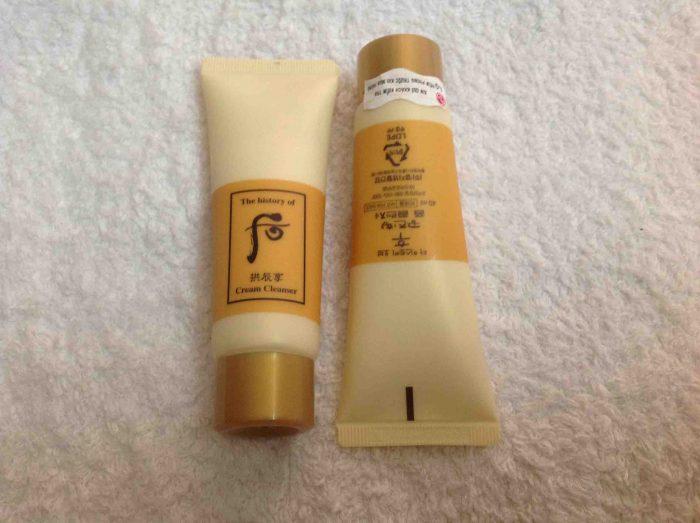 set sữa rửa mặt và tẩy trang Whoo Gongjinhyang Cleanser Special Gift Kit 40ml