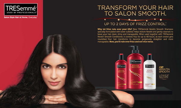 Cặp dầu gội xả Keratin Smooth Tresemme 739ml Mỹ ngăn rụng tóc