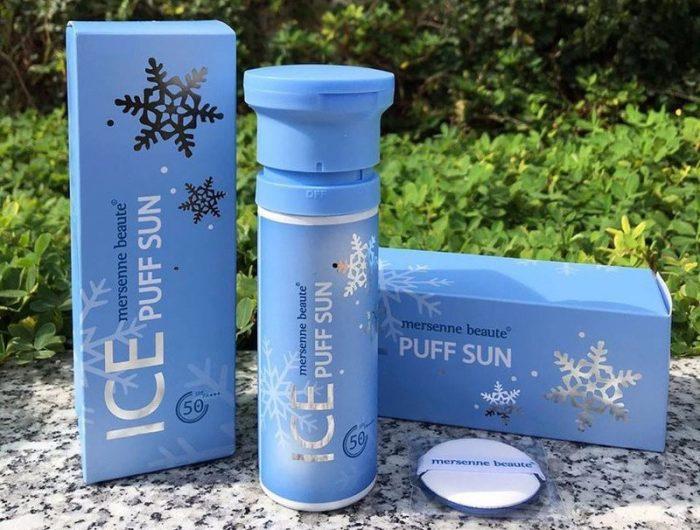 Kem chống nắng Ice Puff Sun Mersenne Beaute pha lê tuyết