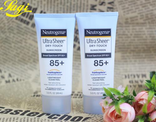 Kem chống nắng Neutrogena Ultra Sheer SPF 45, 55, 70, 100