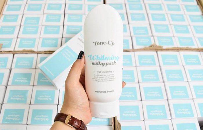 kem dưỡng trắng body Tone Up Whitening Milky Pack