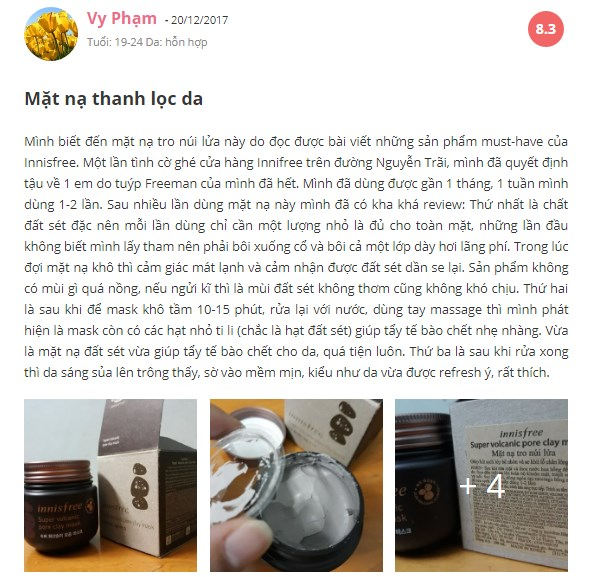 Mặt nạ đất sét Innisfree Super Volcanic Pore Clay Mask 100ml‎
