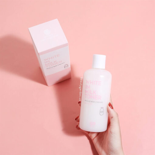 Nước hoa hồng g9 skin white in milk toner