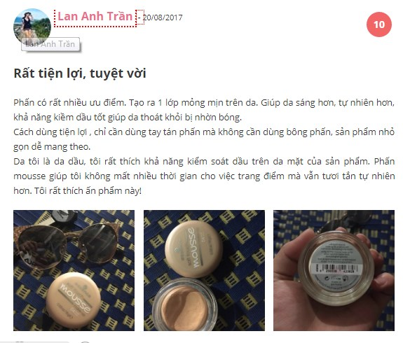 Phấn tươi Essence Soft Touch Mousse make up của Đức