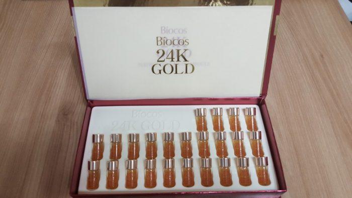 Tinh Chất Biocos 24k Gold Perfect Collagen Ampoule