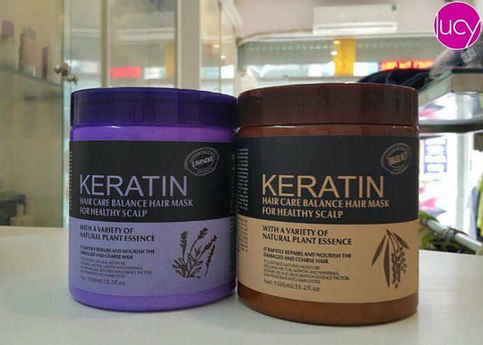 Ủ tóc Keratin phục hồi tóc hư tổn chuẩn Salon