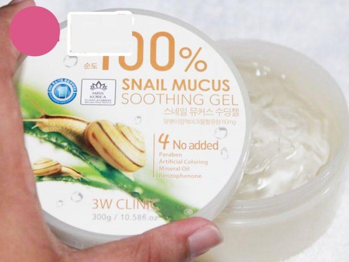 Gel dưỡng da ốc sên 3W Clinic Snail Mucus Soothing Gel