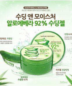 Gel lô hội 8 tác dụng Aloe Vera Nature Republic 92%