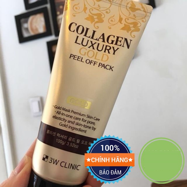 Mặt Nạ Vàng Collagen Luxury Gold Peel Off Pack 3W Clinic