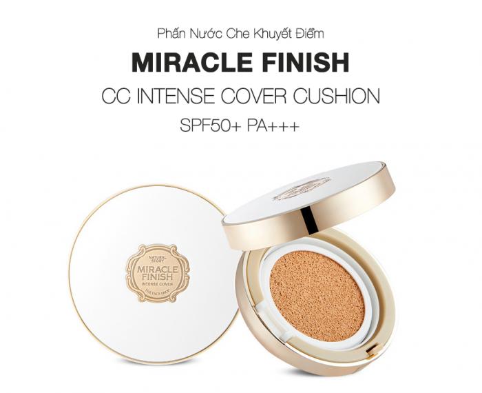 PhấnnướcCCCushionIntenseCoverSPF50+ PA+++ The Face Shop