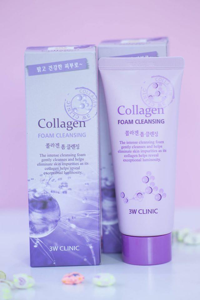 Sữa Rửa Mặt Colagen 3W Clicnic Hàn Quốc
