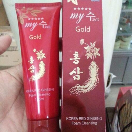 Sữa rửa mặt sâm đỏ My Gold Hàn Quốc