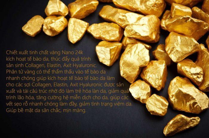 【Tinh Chất Vàng Biocos 24k Gold Energy Ampoule